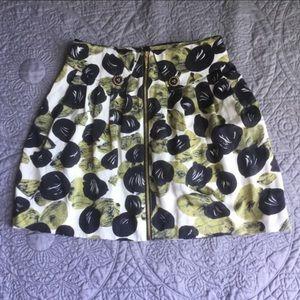 Leifsdottir Anthropologie zip down skirt size 2